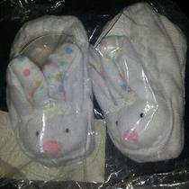 6-12m Infant Bunny Booties 100% Cotton Photo