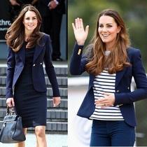 6 8 Nwot Smythe Duchess Kate Navy Blue One Button Wool Classic Blazer 695  Photo