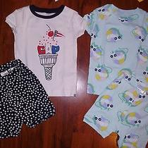 6 9 12 M Baby Gap 2 Sets Pj's Pajamas Kitty Cat Girl Shorts Toddler Kids New Nwt Photo