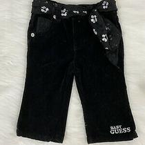6-9 Months Baby Guess Black Pants With Belt Lace Pockets Baby Girl Clothes 6/9m Photo