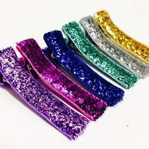 6 Glitter Toddler Girls Hairclips by Pinksugar - Glitzy Shine  Photo
