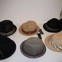 6 Hats - Christys Crown Series Deluxe Straw Fedora Hat Lot Size Small / Medium Photo