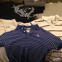 6 Men Medium Shirts Tees a&f a&e Hurley Hollister American Abercrombie M Shirt Photo