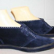 6 Nos Vtg 1970s Keds Navy Blue Suede Velour Chukka Ankle Boot 70s Bootie Shoe Photo