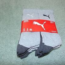 6 Nwt Puma Crew Socks Sz 10-13 Nice Lk Fs Photo