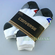 6 Pair Converse Men's Athletic Logo Low Cut Ankle Socks  Shoes 6-12 Photo