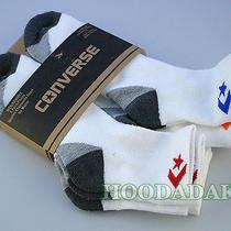 6 Pair Converse Men's Athletic Logo Quarter Socks  Shoes 6-12 Photo