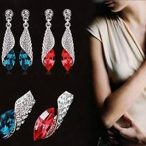 6 Pair Fashionable Shining Crystal Rhinestone Conch Style Earrings 22 No. Good Photo