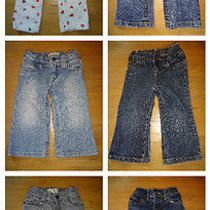 6 Pairs 18-24 Mo Gap Old Navy Children's Place Roxy Freestyle Skinny Flare Jeans Photo