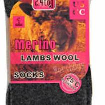 6 Pairs Womens Winter Warm Thermal Heavy Duty Merino Lambs Wool Socks Size 9-11 Photo
