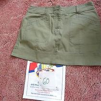 60. Dkny Olive Green Mini Skirt Size 10 Very Nice Photo