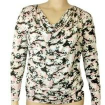 60 Lane Bryant Long Sleeve Matte Jersey Top Blush Multi Plus Size 22/24 3x Nwt Photo