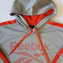60 Reebok Men's Pullover Hoodie Jacket Gray/orange Size S Photo