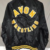 60's Avon Wrestling Satin Jacket Men's M Pla-Jac Coach Johnson Sewn Letters Usa Photo