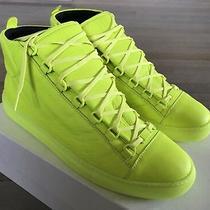 600 Balenciaga Arena Fluorescence Leather High Tops Sneakers Size Us 8 Eu 41 Photo