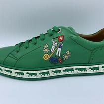 600 Bally Animals Emeral Leather Sneakers Size Us 9 Made in Switzerland Photo