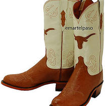 619 New Lucchese (1883) Cognac Smooth Ostrich Cowboy Boots Mens 7.5 D 350 Photo