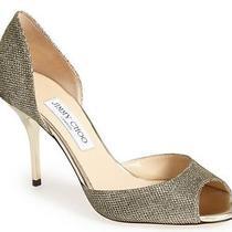 625 Jimmy Choo Wedding Shoes Lien Glitter d'orsay Pump Shoe Heel Sz 41 / 10 Photo