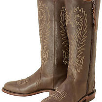 634 New Lucchese (1883) Chocolate Calf Riding Cowboy Boots Womens 7 B 400 Photo