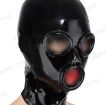 6361 Latex Rubber Gummi Circle Ring Holes Masks Hoods Catsuit Customized 0.4mm Photo