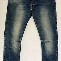 65% P. Balmain Blue Jeans It52 W36 L32 Stretch Denim Rrp 379 Rare Photo