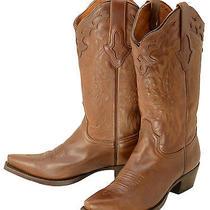 656 New Lucchese (Resistol) Natural Oiled Calf Cowboy Boots Womens 7 B 230 Photo