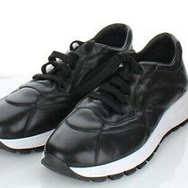 66-13 New 690 Women's Sz 40 M Prada Nylon Leather Trainer Sneaker in Black  Photo