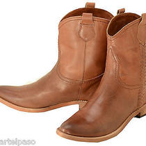660 New Lucchese (Spirit) Cognac Calf Ankle Cowboy Boots Womens 7 B 280 Photo