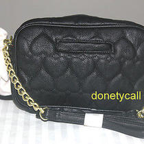 68 Betsey Johnson Be Mine Camera Black Crossbody Handbag Bag Photo