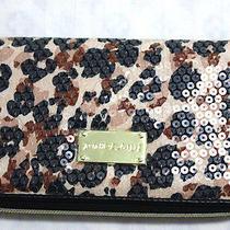 68betsey Johnson Water Color Cheetah Natural Wallet  Photo