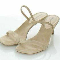 69-63 115 Women's Sz 7 M Jeffrey Campbell Hera-Hi Suede Heel Sandal in Nude Photo
