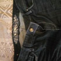69.90 Express Boot Eva Curvy Fit Mid Rise Dark Blue Jeans Stretch Size 12r Photo