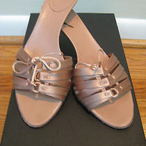 695 Gucci Pink Nude Corset Sandals With Bamboo Heels- Size 6.5  Photo