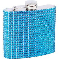 ((6oz Stainless Steel Flask in Blue)) Photo