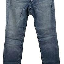 7 for All Mankind 29 Straight Leg Jeans Blue  Medium Wash Denim Stretch  Photo