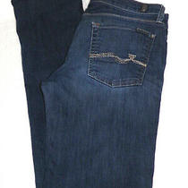 7 for All Mankind 7fam Men's Slimmy 34x34 Medium Wash Denim Blue Jeans Photo
