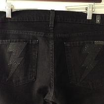 7 for All Mankind- Black -Stretch Bootcut Lightning Bolt Womens Jeans - Size 28 Photo