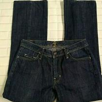7 for All Mankind Bootcut Jeans Size 28 Womens Button Flap Pocket Blue  Photo