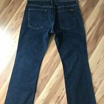 7 for All Mankind Brett Denim Blue Jeans Dark Wash Mens Sz 34 Inseam Appr 30 Photo