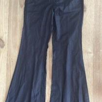 7 for All Mankind - Dark Gray - Super Flare Satin Twill Pants Jeans - Size 27 Photo