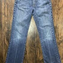 7 for All Mankind Denim Blue Jeans Size 28 Bootcut L30 Low Rise Medium Wash Photo