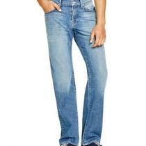 7 for All Mankind Distressed Relaxed Fit Blue Jeans Size 34 X 29 100% Cotton Photo