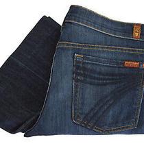 7 for All Mankind Dojo Jeans Flare Leg Size 36 28 Womens Dark Blue Denim Trouser Photo