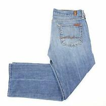 7 for All Mankind Faded Blue 29 Bootcut Jeans Womens Preowned Photo