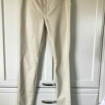7 for All Mankind Gwenevere Jeans White Crackle Wash Nwot Photo