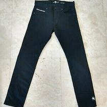 7 for All Mankind Jeans Black Size 31 Inseam 29 Nwot New Paxtyn Seven Photo
