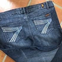 7 for All Mankind Ladies Dark Blue Size 30 Boot Cut Jeans  Photo