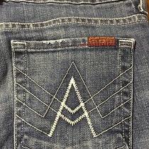 7 for All Mankind Luxurious a Pocket Boot Women's Distressed Jeans Size 27 X 31 Photo