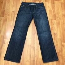 7 for All Mankind Mens a Pocket Relaxed Straight Leg Denim Blue Jeans Sz 33 X 34 Photo