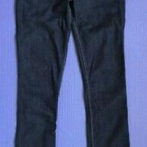 7 for All Mankind Modern Straight Dark Blue Jeans Size 25 Photo